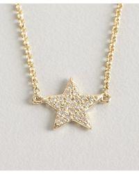KC Designs | Metallic Gold And Diamond Star Charm Bracelet | Lyst