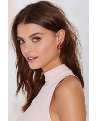 Nasty Gal | Pink Melody Ehsani We All Scream Gold-plated Earrings | Lyst