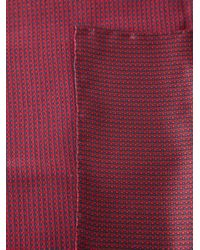 Brioni Red Tie And Pocket Square Set for men