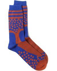 Henrik Vibskov - Blue Dotted Socks for Men - Lyst