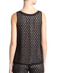See By Chloé Black Lace Top