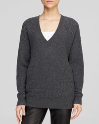 Vince - Gray Mesh Stitch Dolman Sweater  - Lyst