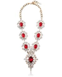 DSquared² | Red Crystal Necklace | Lyst