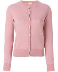 P.A.R.O.S.H. - Pink Round Neck Cardigan - Lyst