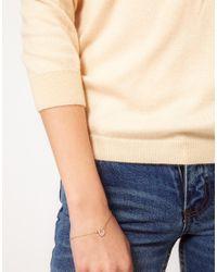 Orelia - Metallic Tiny Sparkle Horseshoe Bracelet - Lyst
