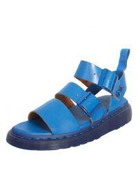 Dr. Martens Unisex Gryphon Strap Sandals Blue