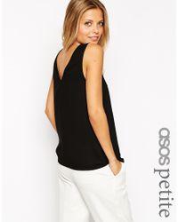 ASOS - Black V Front & V Back Vest - Lyst