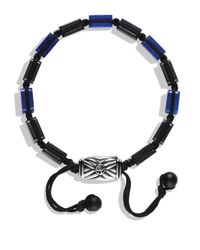 David Yurman | Black Spiritual Beads Five-station Tile Bracelet With Lapis Lazuli for Men | Lyst