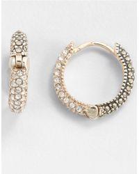 Judith Jack | Metallic Marcasite Huggie Hoop Earrings | Lyst