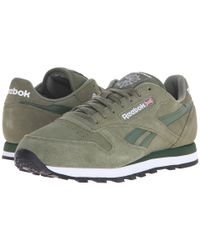 Reebok Gray Classic Leather Suede for men