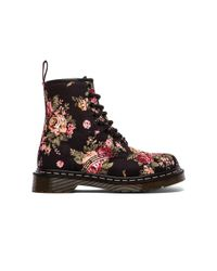 Dr. Martens | Black Print 8 Eye Boot | Lyst