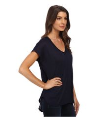 Bobeau | Blue Rolled Sleeve T-shirt | Lyst