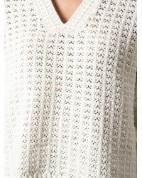 3.1 Phillip Lim - White Chunky Short Sleeved Sweater - Lyst