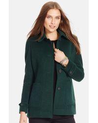 Lauren by Ralph Lauren Green Wool Blend Barn Jacket