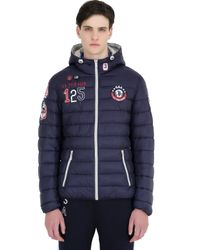 U.S. POLO ASSN. Blue Insulated Hooded Jacket for men