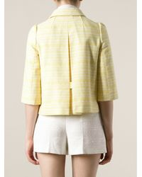 RED Valentino Yellow Bell Shape Jacket