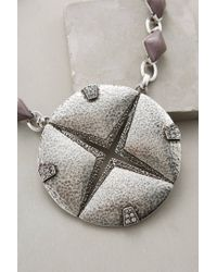 Anthropologie - Metallic Emblem Pendant Necklace - Lyst