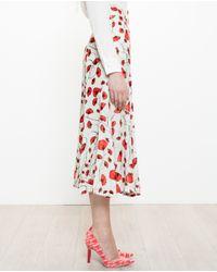 Tata Naka Multicolor Velvet Skirt With Floral Print