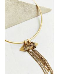 Urban Outfitters | Metallic Draped Chain Choker Necklace | Lyst