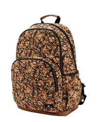 Volcom | Orange 'fieldtrip' Print Canvas Backpack | Lyst