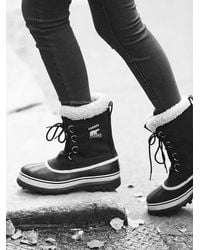 Free People Black Caribou Weather Boot