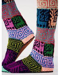 Ariana Bohling Multicolor Womens Lounge Around Slipper Sock