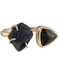 Lucky Brand - Metallic Double Stone Ring - Lyst