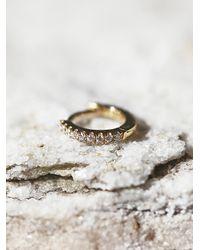 Free People | Metallic Maria Tash Jewelry Womens Diamond Eternity Helix Earring | Lyst