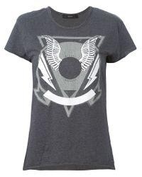 DIESEL - Gray 't-sullye' T-shirt - Lyst