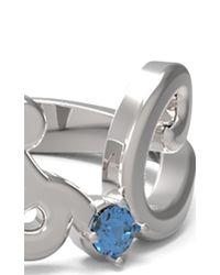 Alison Lou | Metallic Customizable Sapphire Mrs. Ring | Lyst