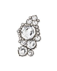 St. John - Metallic Crystal Octagon Brooch - Lyst