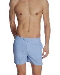 Swim-ology Blue Swimming Trunk for men