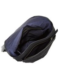 Cole Haan   Black Leather Trimmed Messenger Bag for Men   Lyst