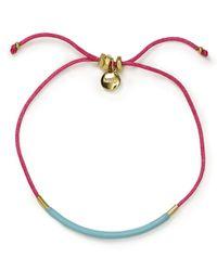 Marc By Marc Jacobs - Blue Enamel Dipped Friendship Bracelet - Lyst