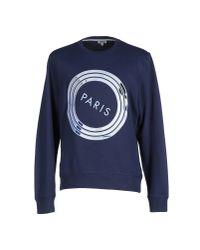 KENZO - Blue Sweatshirt for Men - Lyst