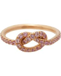 Finn - Pink Love Knot Ring Size Os - Lyst