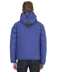 Ai Riders On The Storm Blue Zip Up Nylon Micro Ripstop Down Jacket for men