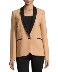 Michael Kors - Orange Single-button Tuxedo Jacket - Lyst