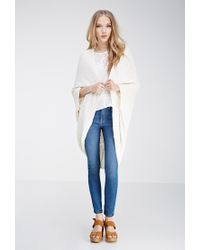 Forever 21 - Natural Ribbed Dolman Cardigan - Lyst