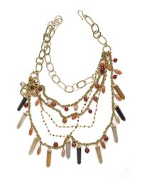 Ashley Pittman | Multicolor Multi-chain Crystal/carnelian Necklace | Lyst