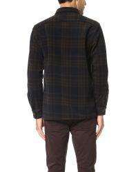 Schnayderman's Brown Large Check Overshirt for men