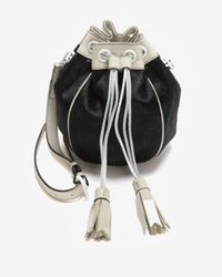 Meredith Wendell - Black Exclusive Calfhair Drawstring Crossbody Pouch - Lyst