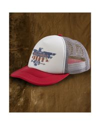 Denim & Supply Ralph Lauren - White Foam Logo Trucker Hat for Men - Lyst