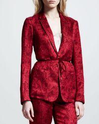 The Row Red Printed Gazar Jacket