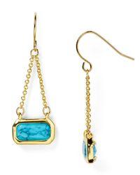 Ralph Lauren | Metallic Lauren Chain Drop Earrings | Lyst