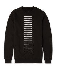 Rick Owens Black Drkshdw Striped Cotton-Jersey Sweatshirt for men