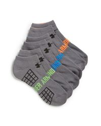 Under Armour Gray 'beyond V' No-show Socks for men