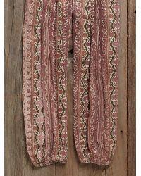 Free People - Pink Womens Vintage Indian Gauze Jumpsuit - Lyst