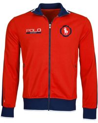 Polo Ralph Lauren | Red Polo Sport Pique Track Jacket for Men | Lyst