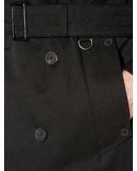 Aquascutum Black Corby Double Breasted Raincoat